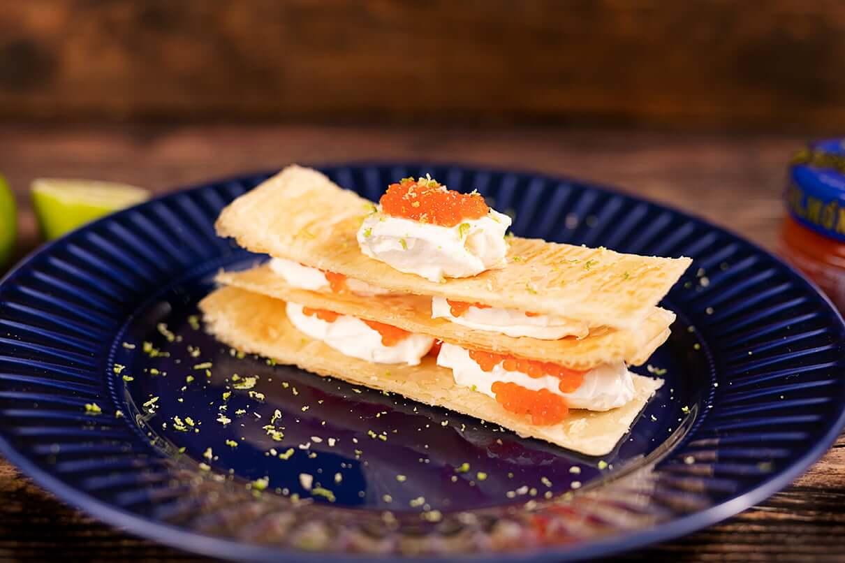 milhojas crema citrica salmon shikran